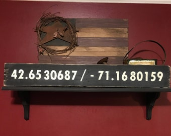 Coordinates Sign | Longitude Sign | GPS Coordinates | Latitude Longitude | GPS Coordinates Sign | Address Sign | Mother Gift | Mom