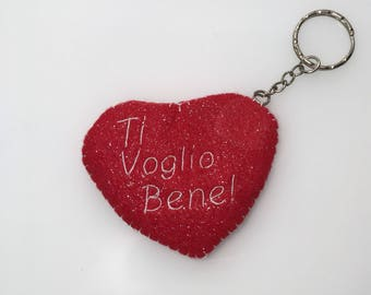 "Key ring love red heart ""I love you"" - Valentine's day gift idea for him and her"