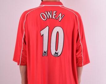 Reebok Jersey M. Owen no.10 Liverpool Made in UK (493)