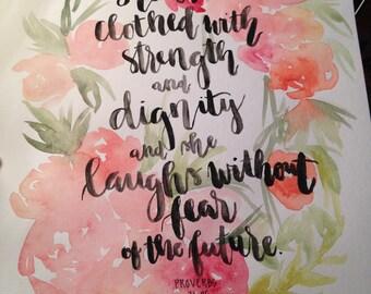 Custom Scripture Watercolor Art