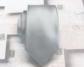 Gray Ties Mens Neckties With *FREE* Matching Pocket Square Set