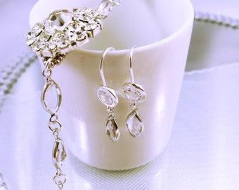 Wedding earrings / bridesmaids gift / Duo bracelet - earrings