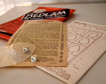 1950's/60's Bedlam Game/Paper Ephemera