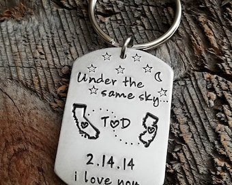 Long Distance Relationship Gift Valentines day gift for boyfriend Valentines Day Gift Under The same sky gift Gift for Him Gift for Her