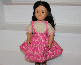 Retro Doll Dress,Doll Dress,18 inch Doll Clothes,Retro '57 Doll Dress,18 inch Retro Doll Dress