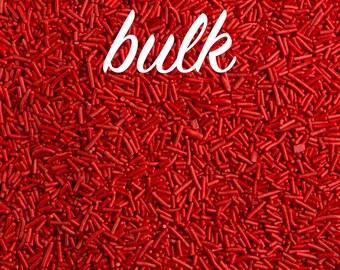 Bulk 2lbs (910g/4 cups) Red Jimmies, Skinny Sprinkles, Sprinkles, Kosher Sprinkles, Canadian Sprinkles