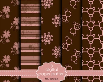 Paper brown collection-set of paper for scrapbooking