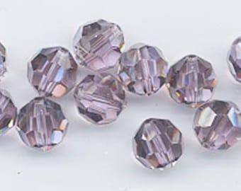 "12 Swarovski crystals with ""satin"" effect - art. 5000 - violet satin - 8 mm"
