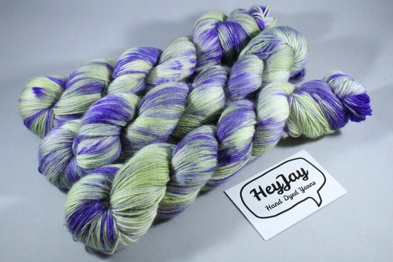 Hand Dyed Sock Yarn, Merino, Alpaca, Nylon Blend - Wild Child