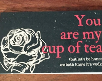 Cup of Tea calling cards