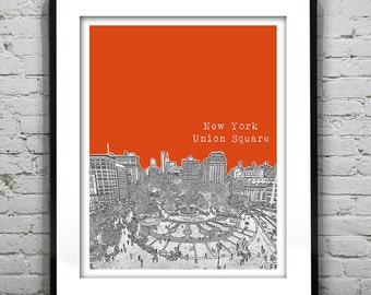 New York City Union Square Skyline Poster Art Print Manhattan NY Item T1299