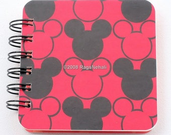 Mickey Mouse \/ Disney Vacation - Post It Note Holder Planner - Makes great Gift