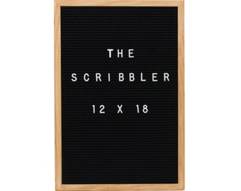 Felt Letter Board Black 12X18 With 346 Letters, Numbers, Emoji and Symbols. Includes Free Letter Pouch