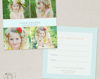 Photography Gift Certificate Template 008 - C199, INSTANT DOWNLOAD