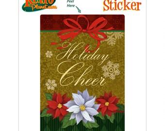 Holiday Cheer Christmas Vinyl Sticker - #65691