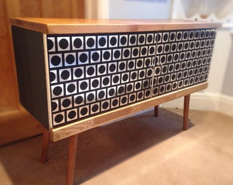 Retro Atomic Era Record Cabinet 70s Sideboard
