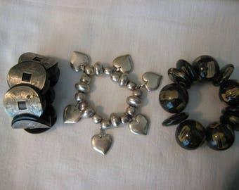 Vintage Expandable Stretch Bangle Bracelets ( costume jewelry )