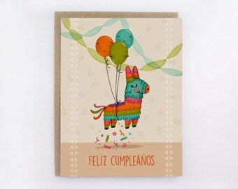 Feliz Cumpleanos - Pinata - Greeting Card