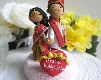 Custom Cake Topper- Indian traditional Wedding Theme