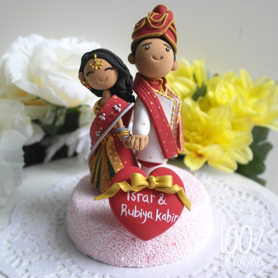 Lovely Custom Cake Topper Indian Traditional Wedding Theme