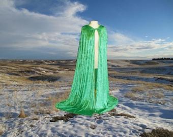 Cloak Cape Twilight Medieval Renaissance Vampire Halloween Costume  Green Elven LOTR CosPlay