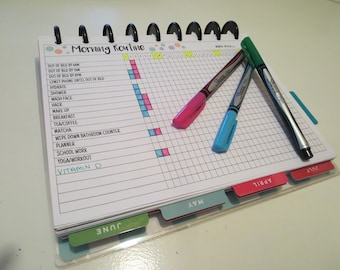 MORNING ROUTINE - Habit Tracker - Planner Printable
