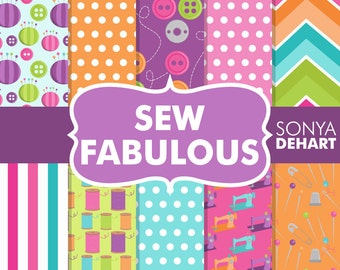 80% OFF SALE Sewing Digital Paper, Sewing Backgrounds, Digital Sewing, Sewing Scrapbook, Sewing Papers, Sewing Digital, Scrapbook Pages