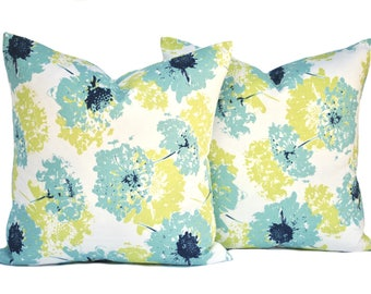 Two floral pillow covers, cushion, decorative throw pillow, decorative pillow, accent pillow, pillow case, DIFFERENT SIZES AVAILABLE