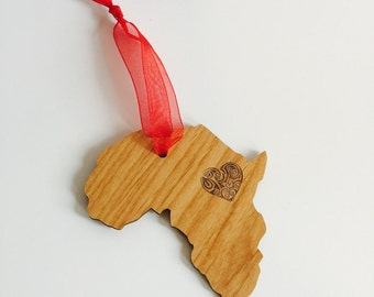 I Heart Africa Ornament