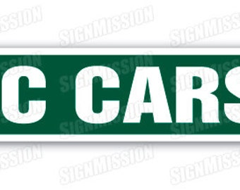 RC CARS Street Sign hobby model builder race  racer radio controlled fly gift