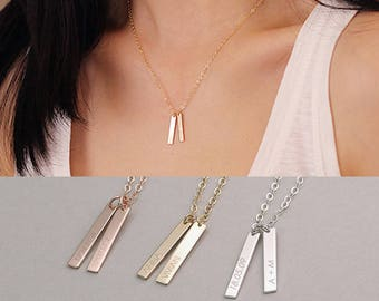 925 Personalized Necklaces 2 leaflets name chain Gold PN-03