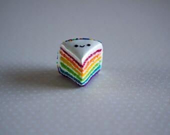 Polymer Clay Kawaii Rainbow Cake