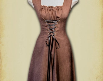 Charlotte Dress medieval clothing - Steampunk short dress for LARP, victorian costume and cosplay