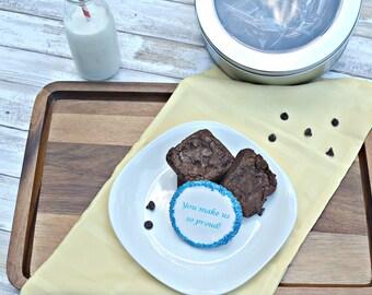 Gourmet Brownies with a Custom Shortbread Note Cookie!