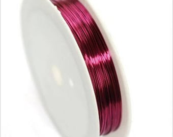 0,4mm copper wire / coil 10 m FUSCHIA
