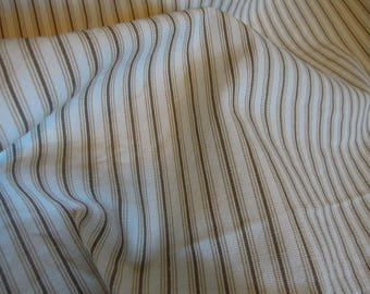 Fabric - Tritex - Skylar, Brown and Cream Stripes, Sewing, Upholstery, Pillow covers, Home Decor