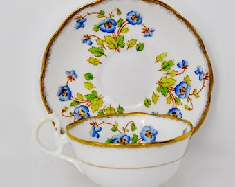 Royal Albert Hand Painted Teacup and Saucer England Fine Bone China Tea Party