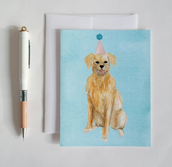 Greeting Card: Party Dog VII