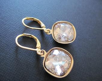 Swarovski Earrings/ Bridesmaid Earrings/ Bridal Jewelry/ Crystal Drop Earrings/ Swarovski Crystal Earrings/