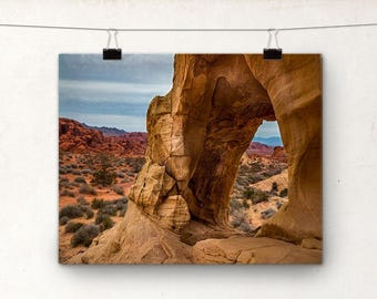 Valley of Fire, Stone Archway, Las Vegas Nevada, Landscape Photography
