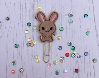 Bunny Planner Paperclip, planner accessories, rabbit planner clip, Easter planner clip, bunny planner clip, Brown bunny planner clip