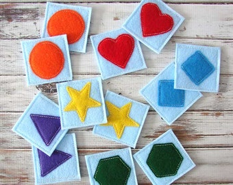 Memory, Matching Game - Educational Toy - Toddler Game - Handmade
