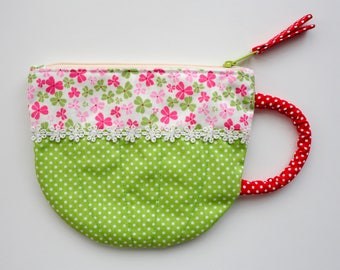Green Tea Cup Pouch
