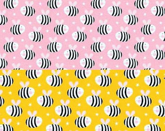 Bee cotton fabric for sewing and needlework Fabric By the Yard Bumble Bees Spring Summer Fabric bumble bee,sewing material,quilting fabric,