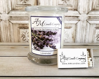 Lavender Candle - Scented Soy Candles, Lavender Scented, Candle Gift, Birthday Gifts, Mother's Day Gifts, Gifts For Her,