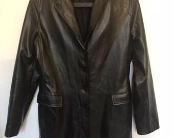 long jacket YUMI MAZAO leatherette