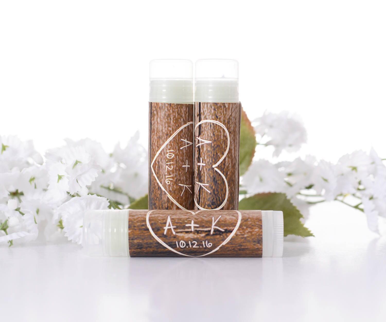 Rustic Lip Balm Labels Wedding Lip Balm Stickers Chapstick