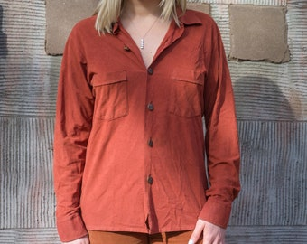 Vintage 70s Rust Button Up