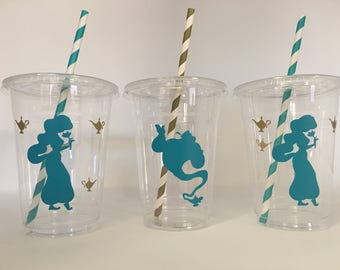 Aladdin party cups, Jasmine party cups, Arabian Nights party, Jasmine Birthday Party
