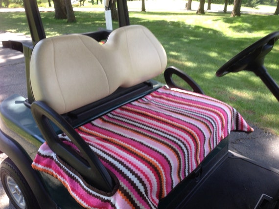 Zig Zag Terry Cloth Golf Cart Seat Cover